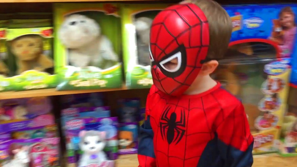 Spiderman Cars Toys Kid Video