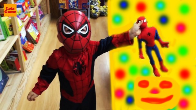 Spiderman Little Boy Go to the Toy Store