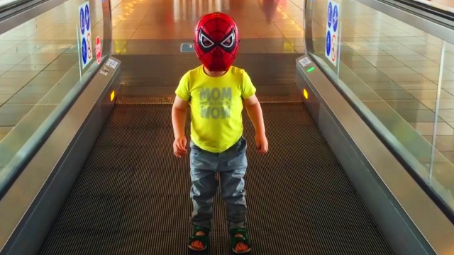 Little Boy Spider-Man Flying to Turkey