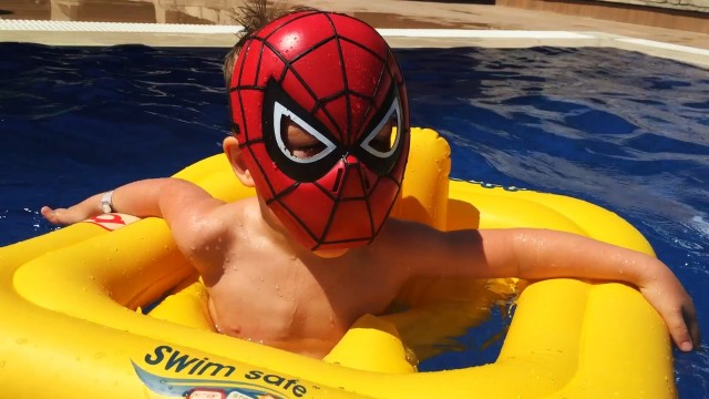 LittleBoy Spider-Man at the Aqua Park (Turkey)