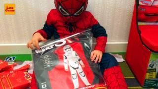 Spider-Man Unpacking Star Wars Toys