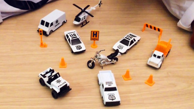 Star Wars and Police Force Cars Play Set for Kids