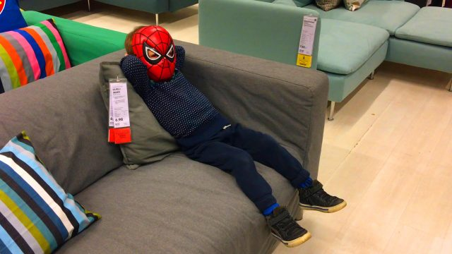 Funny Little Boy Spider-Man