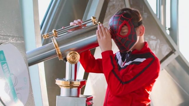 Interesting tours with children in Brussels tower Atomium with Mini Super Heroes 1