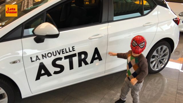 Little Boy Spiderman Visited Car Dealer Opel