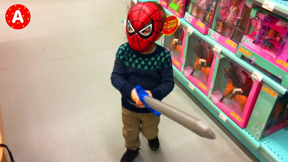 Little Spider-Man Have Fun and Play with Toys