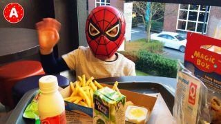 LittleBoy Spider-Man Having Fun in the Quick