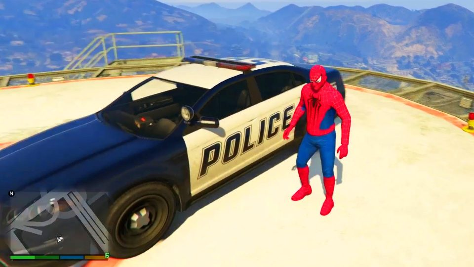 Spider-Man Conduit Voiture de Police