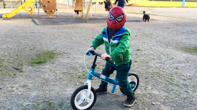 Spider-Man LittleBoy Adam Biking