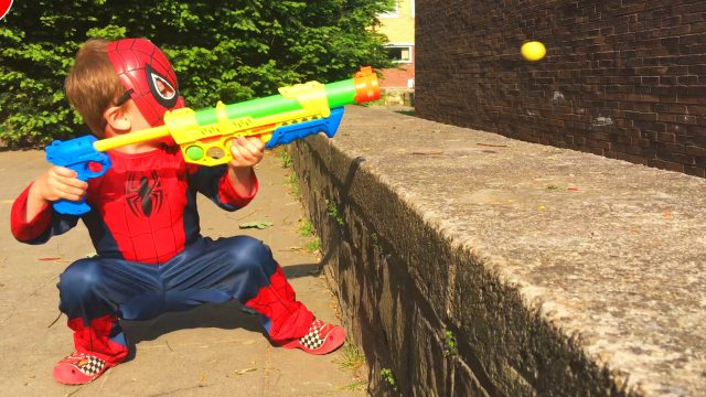 Spider-Man LittleBoy Adam Unpacking Gun Toy for Boys