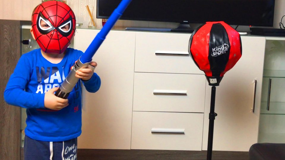 Spider-Man Superhero LittleBoy Adam Boxing