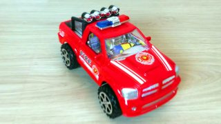 Spider-Man Unpacking Toys Police Cars and Monster Truck