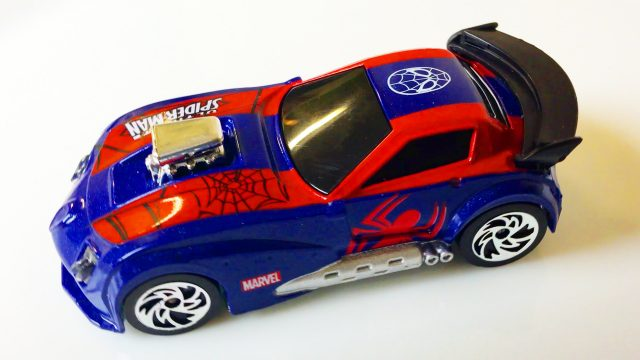Spider-Man and Hot Wheels Cars