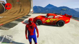 Spider-Man et Flash Mcqueen de Cars 2