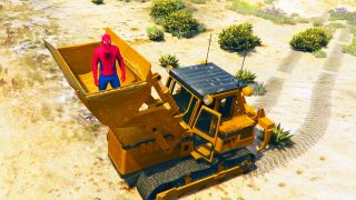 SpiderMan Conduit un Tracteur