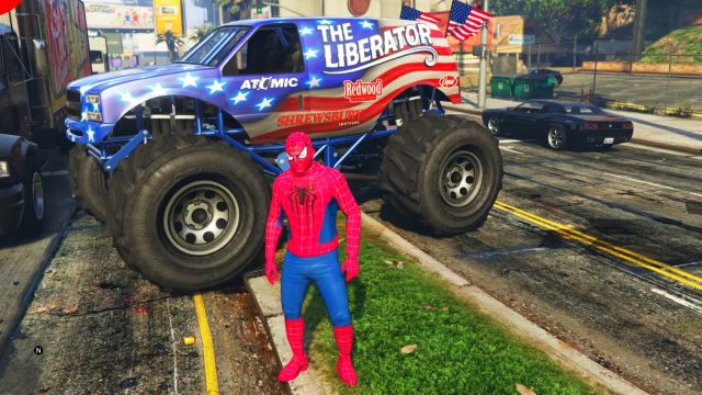 SpiderMan et Voiture Monster Truck
