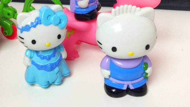Little Girl Manina Opening Hello Kitty Toys