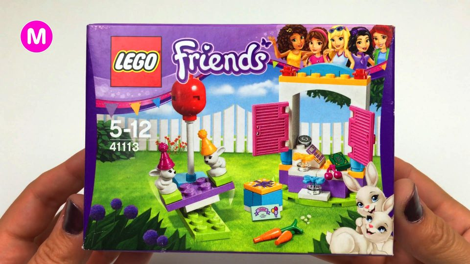 Playing with Constructor Lego Friends for Little Girl