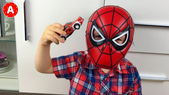 Spider-Man Adam Playing with Cars