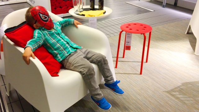 Spider-Man LittleBoy Adam Go To IKEA