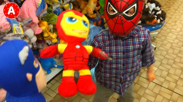 SpiderMan in Toy Store