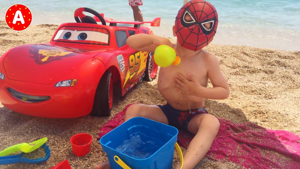 Spider-Man on the Beach in Villefranche Nice Cote d'Azur