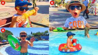 Little Boy Adam Having Fun in Turkey — All Series in a Row