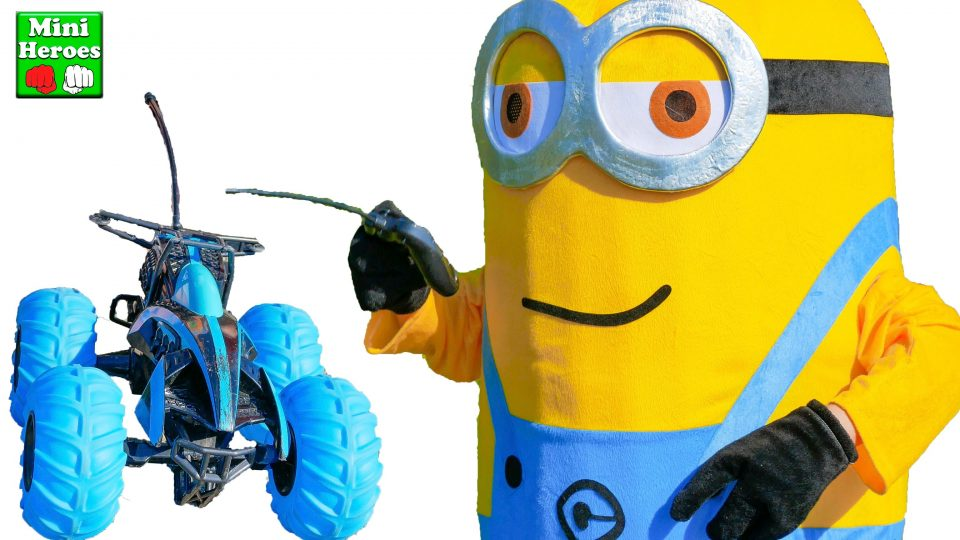 Minion drives his RC Car