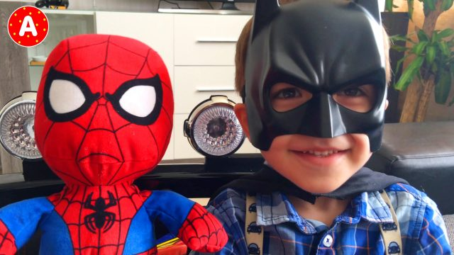 Spider-Man Little Boy Adam After School BatMan