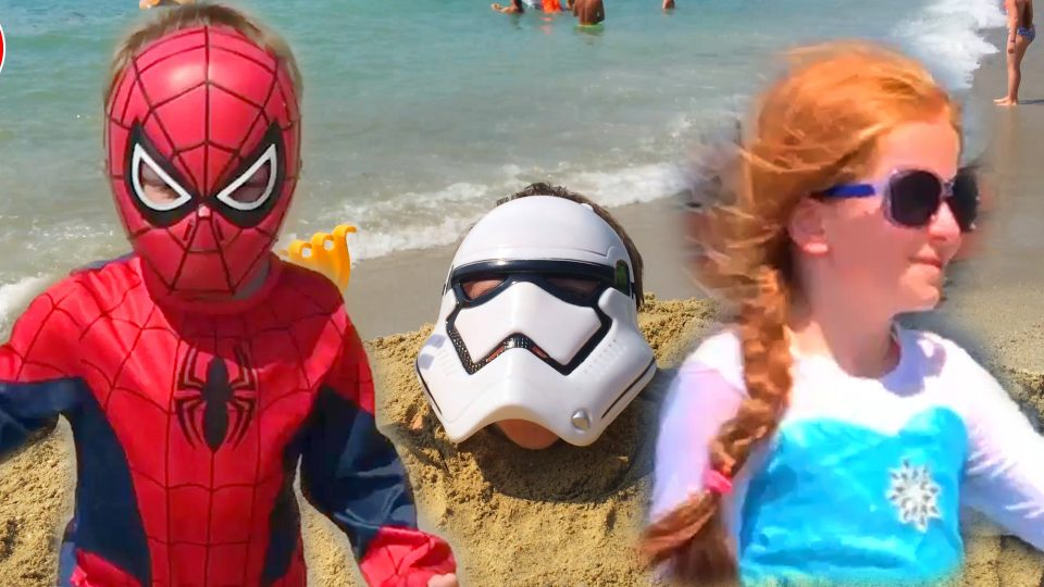 Spider-Man Rescues Frozen Princess Elsa from Star Wars Stormtrooper