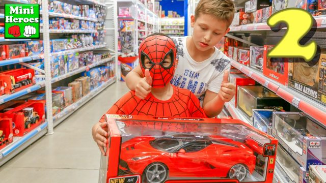 Spider Man buys new toys in France