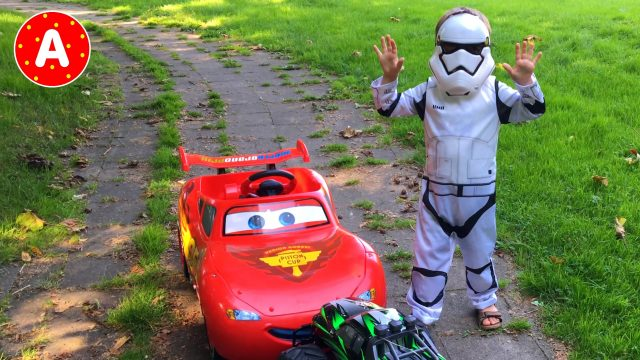 Star Wars Imperial Stormtrooper Riding Car Lightning Mcqueen